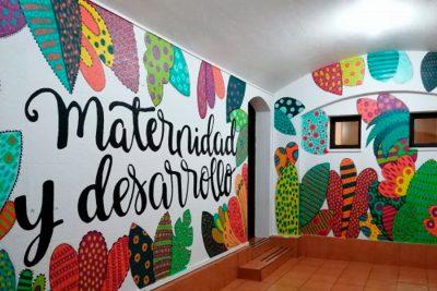 Grupos de voluntarios pintaron parte de nuestro Centro de Atención a la Maternidad